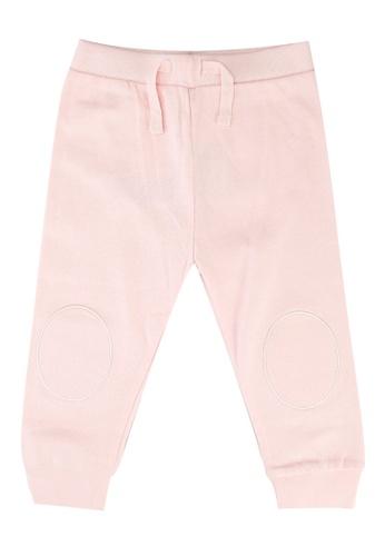 FOX Kids & Baby pink Newborn Drawstring Knit Pants B5461KA1245C57GS_1