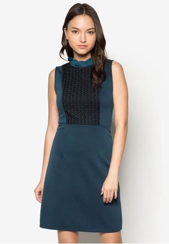 Elisabeth 荷葉領蕾絲無袖洋裝, 服飾, esprit macau洋裝