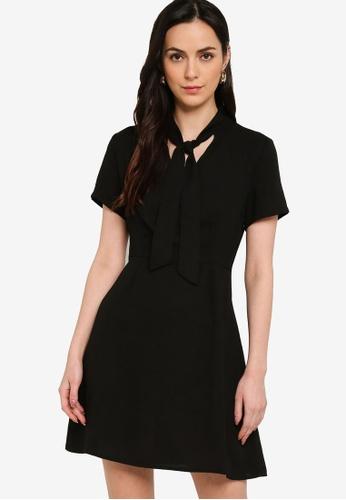 ZALORA WORK black Pussybow Mini Dress 6638EAA8281B7AGS_1