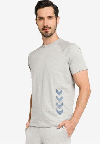 Hummel grey Caleb T-Shirt DCC74AA6E130F8GS_1