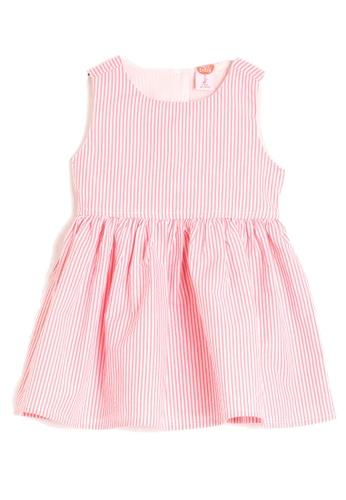 KOTON pink Striped Crew Neck Sleeveless Dress C5F65KA9D77131GS_1