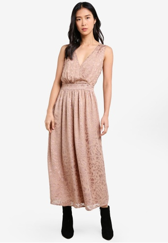 ZALORA pink Studio Maxi Dress with Wrapped Bodice 8D84EAA490E78AGS_1