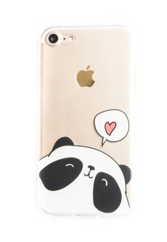 Fancy Cellphone Cases multi Panda Heart Soft Transparent Case for iPhone 7 FA644AC93JQKPH_1