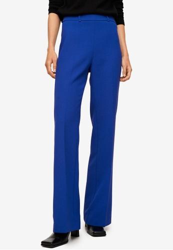 Mango blue Pleat Flare Trousers A0F1FAAF92C928GS_1