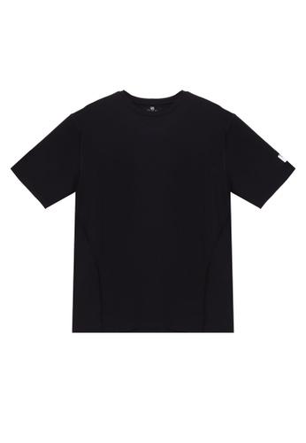 UniqTee 黑色 無痕 圓領T恤 8E13EAA4F03181GS_1