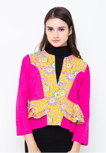 Batik Etniq Craft Blazer Kupu-Kupu Kombinasi