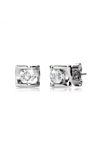 Her Jewellery silver Swarovski® Zirconia - Eternal Love Earrings (18K White Gold Plated) Her Jewellery HE581AC0RDR7MY_1