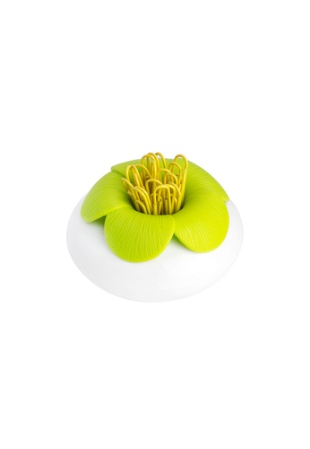 Qualy Qualy Blossom Pod Paper Clip Holder (White/Green) 30CFBHLCCC4B03GS_1