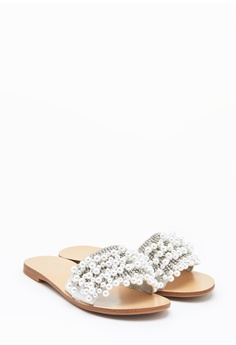 89046d566 PAZZION Embellished Pearl Sandals RM 289.00. Available in several sizes