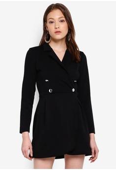7c0546b8a55 Boohoo black Blazer Style Shift Dress 3DC20AADBDCFBFGS 1