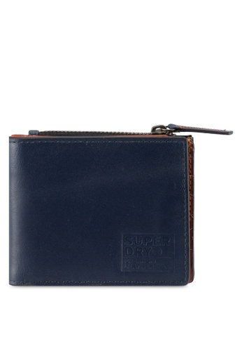Superdry navy Super Premium Contrast Wallet 3B4A6ACF350CAAGS_1