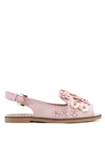 River Island pink and beige Rerdy 3D Flower 02E55SH4AF1CC0GS_1