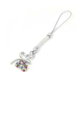 Glamorousky multi White Strap with Double Heart Butterfly in Multi-color Austrian Element Crystals 0A5ADACB101D1AGS_1