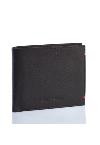 ENZODESIGN black and red Ultra Soft Cow Leather Wallet(With Center Divider) EN357AC0FJF9SG_1