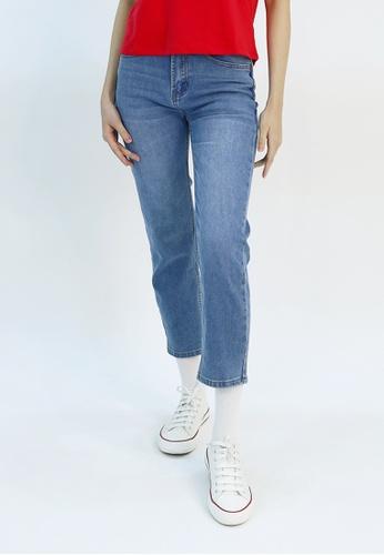 Cheetah navy Cheetah Athleisure Ankle Length Straight Cut Jeans - CAL-110420 77234AA016330AGS_1