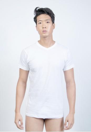 Hanes white 3-Pack Slim Fit R/Neck D040AUS7F80180GS_1