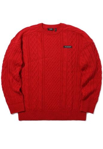 Fivecm red Oversized knit sweater CBEFAAAABAF491GS_1