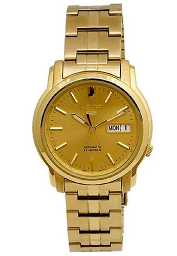 Seiko gold Seiko 5 Automatics 21 Jewels SNKK76K1 Stainless Steel Gold 78947ACF8A41DDGS_1
