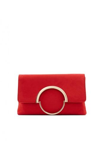Call It Spring red Showstopper Clutch Handbag 50ED2AC7A4D942GS_1