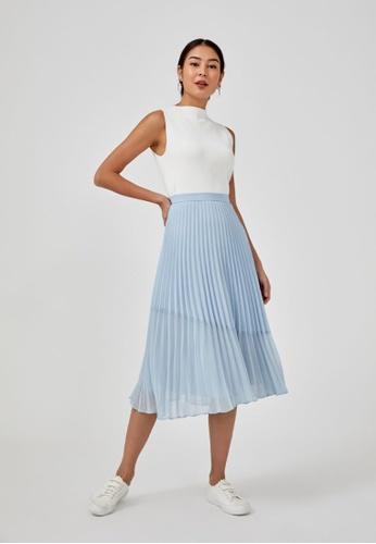 Love, Bonito blue Sophia Pleated Midi Skirt 925A0AAED1F2CDGS_1