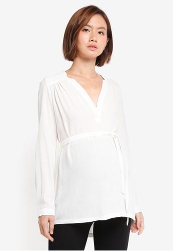 Envie De Fraise white Maternity Judy Long Sleeve Top 54F2FAA553D1C5GS_1