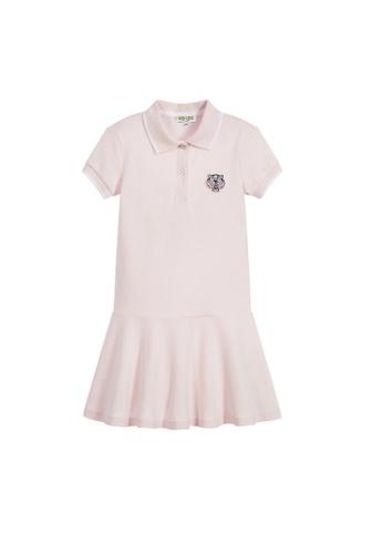 KENZO KIDS pink KENZO TIGER GIRLS POLO DRESS 35884KAB7CEFB9GS_1
