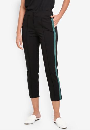 bYSI black Sporty Stripe Pants B2B7DAAB16EF0FGS_1