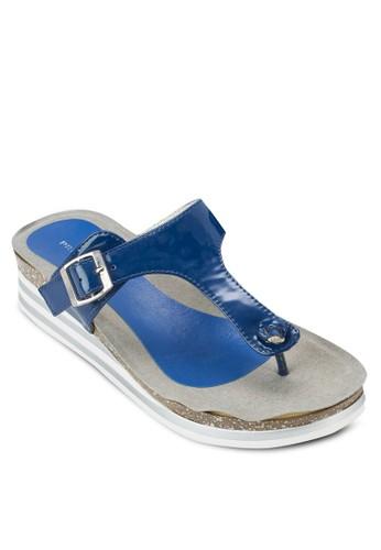 Jellesprit專櫃o 夾腳厚底涼鞋, 女鞋, 鞋