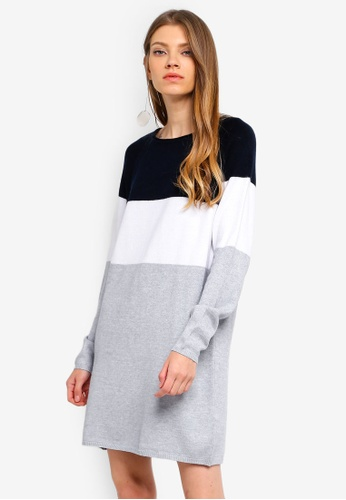 ONLY navy Lily L/S Dress 9496CAADCACE28GS_1