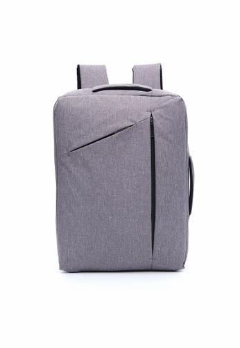 A FRENZ grey Convertible Multi-functional2in1 Waterproof LaptopBriefcaseBackpack 7B913AC17048E9GS_1