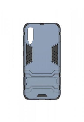 MobileHub grey Samsung A50 Hybrid Defender Case with Kickstand 67245ACDE79BD1GS_1