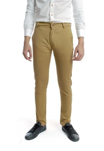 Praise brown Solid Colored Pants PR067AA82KJPSG_1