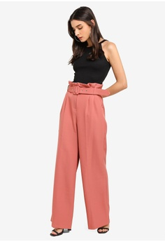 1e826172ed67ca 20% OFF Miss Selfridge Pink Belted Wide Leg Trousers S  83.90 NOW S  66.90  Sizes 6 8 10 12 14