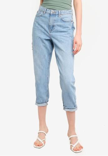 TOPSHOP blue Bleach Mom Jeans D228FAA0CEA2CAGS_1