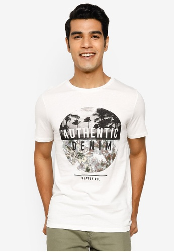 Jack & Jones white Nature Short Sleeve T-Shirt 3F5B9AA4DD559AGS_1