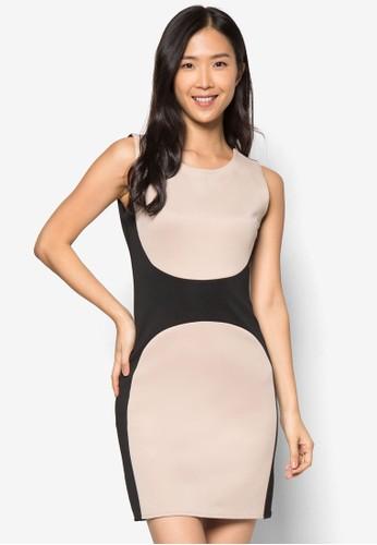 色塊無袖連身裙, 服飾, 正zalora 台灣門市式洋裝