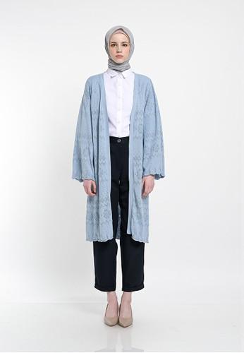 Ana Maryam blue Mika Knit Outer Dusty Blue 10E14AAE20ADA1GS_1