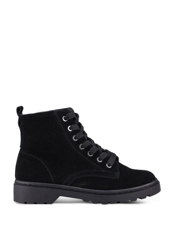 TOPSHOP black BUMBLE Lace Up Boots 3FA61SHFBDDF4EGS_1