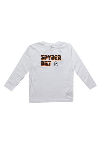 Spyderbilt white Lopyu Kids Long Tee C3FD2KA39A1800GS_1