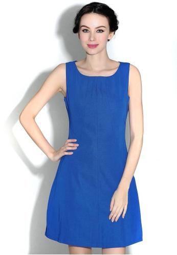 664725e0e3c Missy Stella blue Sleeveless Keyhole Shift Dress in Blue D81C6AAA0D814AGS 1