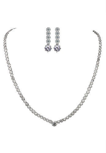 Vivere Rosse silver Lavish Bridal Jewelry Set VI014AC77HDUMY_1