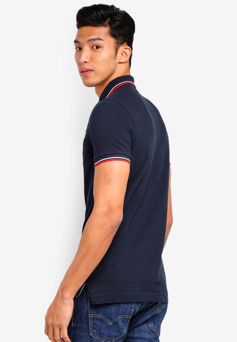Shirt Sleeve Classic Short Eclipse Tri Polo Navy Super Clr Superdry qgwSg41