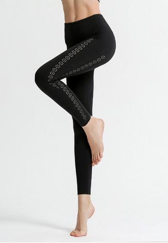 B-Code black ZYG3064-Lady Quick Drying Running Fitness Yoga Sports Leggings -Black 281FCAAD91B719GS_1