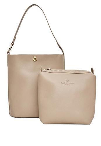 Papillon Clutch brown Calla Bucket Bag 476A6AC9D588D3GS_1