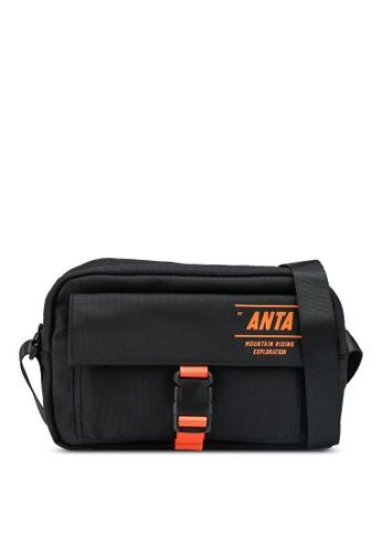Anta black Urban Cycling Satchel Bag 5E18FAC215497FGS_1