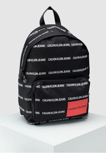bd41821a214 Calvin Klein black and multi Campus Backpack - Calvin Klein Accessories  D1414AC238F117GS_1