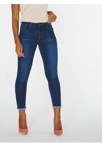 Dorothy Perkins blue Indigo Harper Skinny Jeans DO101AA0KL52PH_1