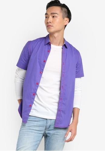 Fidelio 紫色 短袖襯衫 FI826AA89NUGMY_1
