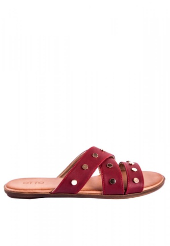 0b2be1a7460b Shop Otto Crossover Studded Slide Sandals Online on ZALORA Philippines