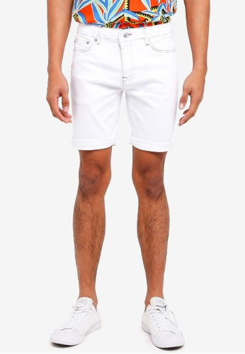 Topman white White Rainbow Denim Shorts 8CE82AAAEE53E5GS_1